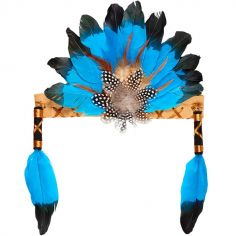 Coiffe indienne Leyati bleue