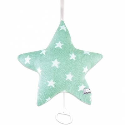 Coussin musical étoile Star vert menthe et blanc (34 x 34 cm) Baby's Only