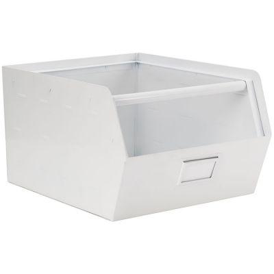 casier de rangement en m tal original blanc 30 x 29cm. Black Bedroom Furniture Sets. Home Design Ideas