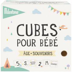 Cubes pour bébé âge + souvenirs