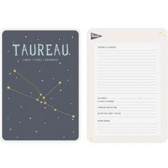 Affiche signe astrologique Taureau (21,4 x 32,5 cm)