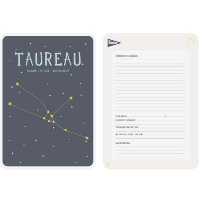 Affiche signe astrologique Taureau (21,4 x 32,5 cm)  par Milestone