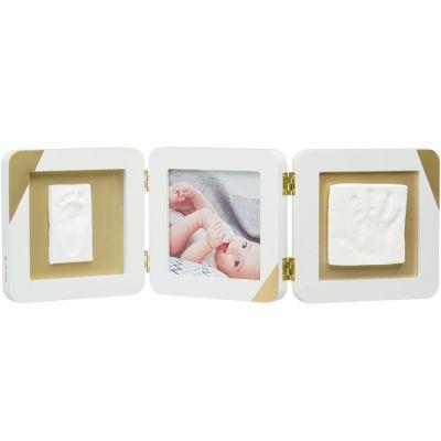 Cadre photo empreinte doré et blanc  par Baby Art