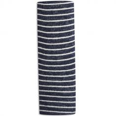 Maxi lange en maille navy stripe (120 x 120 cm)