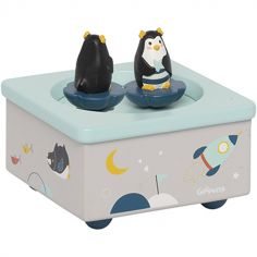 Boîte à musique magnétique pingouin Les Nanouks