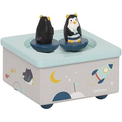Boîte à musique magnétique pingouin Les Nanouks  par Galipette