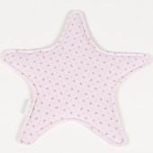 Doudou plat Elodie étoile rose clair (32 x 32 cm) - Pasito a pasito