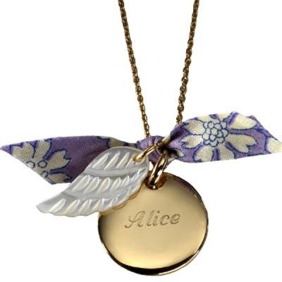 Collier Aile d'Ange (plaqué or et nacre)  par Petits trésors
