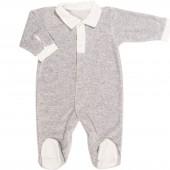 Pyjama chaud Grey Birds (1 mois : 56 cm) - Les Rêves d'Anaïs
