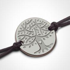 Bracelet sur cordon LOVETREE personnalisable (or blanc 750°)