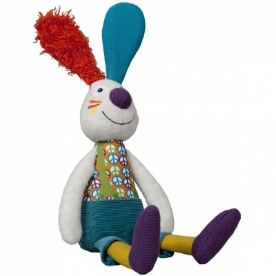 Peluche Jeff le lapin La Happy Farm (25 cm) Ebulobo