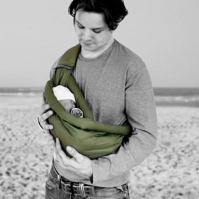 Porte bébé Baby Sling gris   Minimonkey - Berceau Magique e5a516723e2