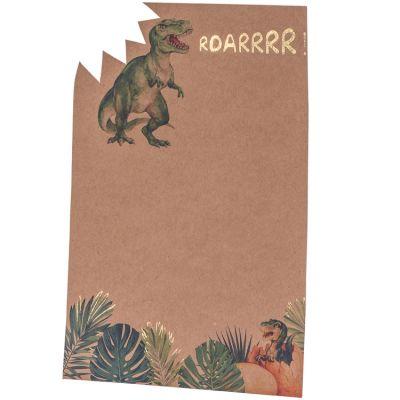 Lot de 8 cartes d'invitation Dinosaure Party