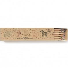 Boîte de 12 crayons de couleurs écologiques Animaux