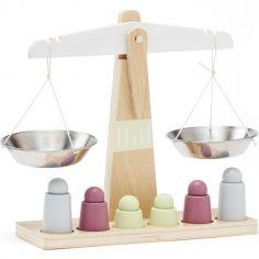 Balance en bois avec poids Bistro