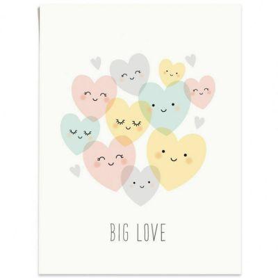Affiche A3 coeur Big love  par Zü