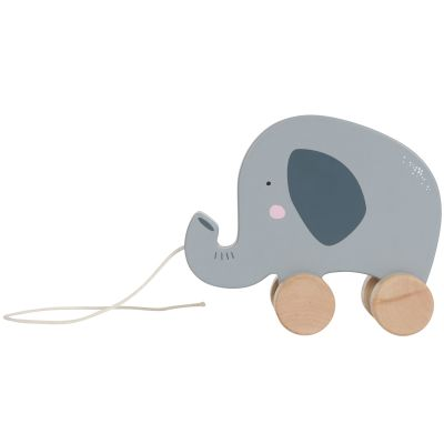 Eléphant en bois à tirer Little Dutch