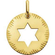 Médaille ajourée Étoile de David (or jaune 750°)