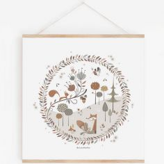 Affiche carrée Little Forest avec support (29,7 x 29,7 cm)