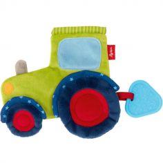 Doudou de dentition frou-frou tracteur
