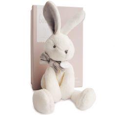 Peluche lapin chic J'aime mon doudou beige (30 cm)