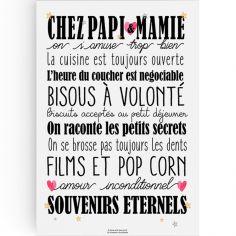 Affiche Chez Papi et Mamie (A3) - La Poupette à paillettes 1b7b04add57