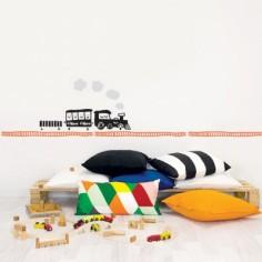 Frise autocollante Train