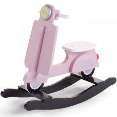 Scooter à bascule rose clair et noir