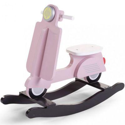 Scooter à bascule rose clair et noir  par Childhome
