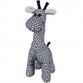 Peluche girafe debout Sun blanc et noir (40 cm) - Baby's Only