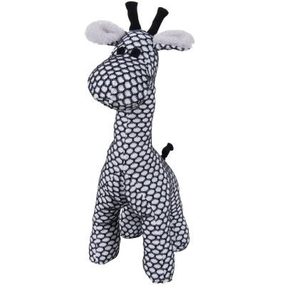 Peluche girafe debout Sun blanc et noir (40 cm) Baby's Only