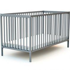 Lit à barreaux en bois de hêtre Essentiel gris (70 x 140 cm)