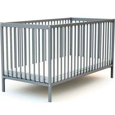 Lit à barreaux en bois de hêtre Essentiel gris (70 x 140 cm)  par AT4