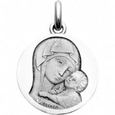Médaille Notre dame de tendresse (or blanc 750°)