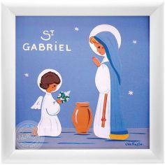 Tableau religieux St Gabriel Saint Patron personnalisable (15 x 15 cm)