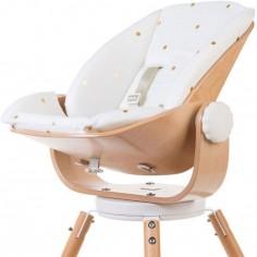 Coussin réducteur naissance pour chaise haute Evolu Newborn pois dorés