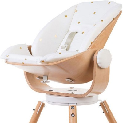 Coussin réducteur naissance pour chaise haute Evolu Newborn pois dorés  par Childhome