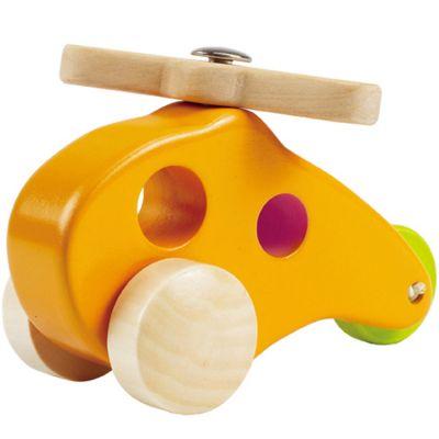 Jouet en bois hélicoptère jaune Hape
