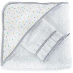 Cape de bain + gant étoile