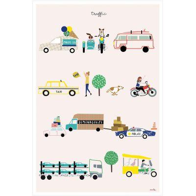 Affiche Les moyens de transport Traffic (60 x 40 cm)  par Mimi'lou