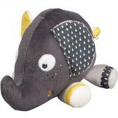 Peluche Babyfan éléphant (17 cm) - Sauthon Baby Déco