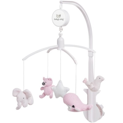 Mobile musical animaux rose  par Baby's Only
