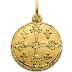 Médaille croix de Saint Louis 18 mm (or jaune 750°)