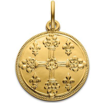 Médaille croix de Saint Louis 18 mm (or jaune 750°)  par Monnaie de Paris
