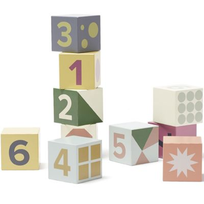 Cubes en bois Edvin (10 pièces)  par Kid's Concept