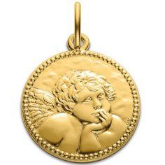 Médaille Ange de Raphaël 18 mm (or jaune 750°)