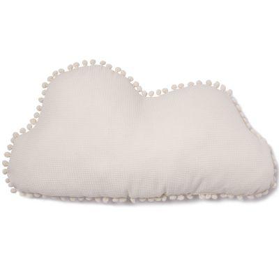 Coussin nuage Marshmallow écru (30 x 58 cm)  par Nobodinoz