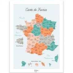 Affiche A4 Carte de France
