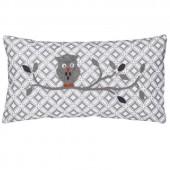 Coussin Hibou gris (37 x 20 cm) - Taftan