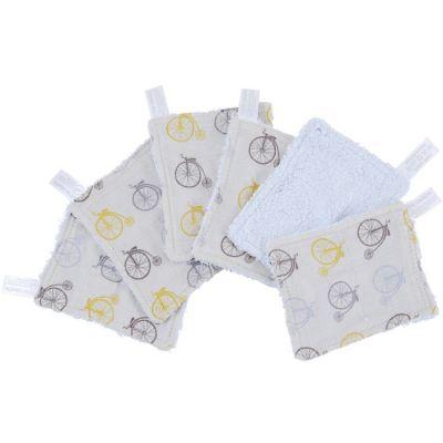 Lot de 6 lingettes lavables en coton bio Lucien  par Little Crevette